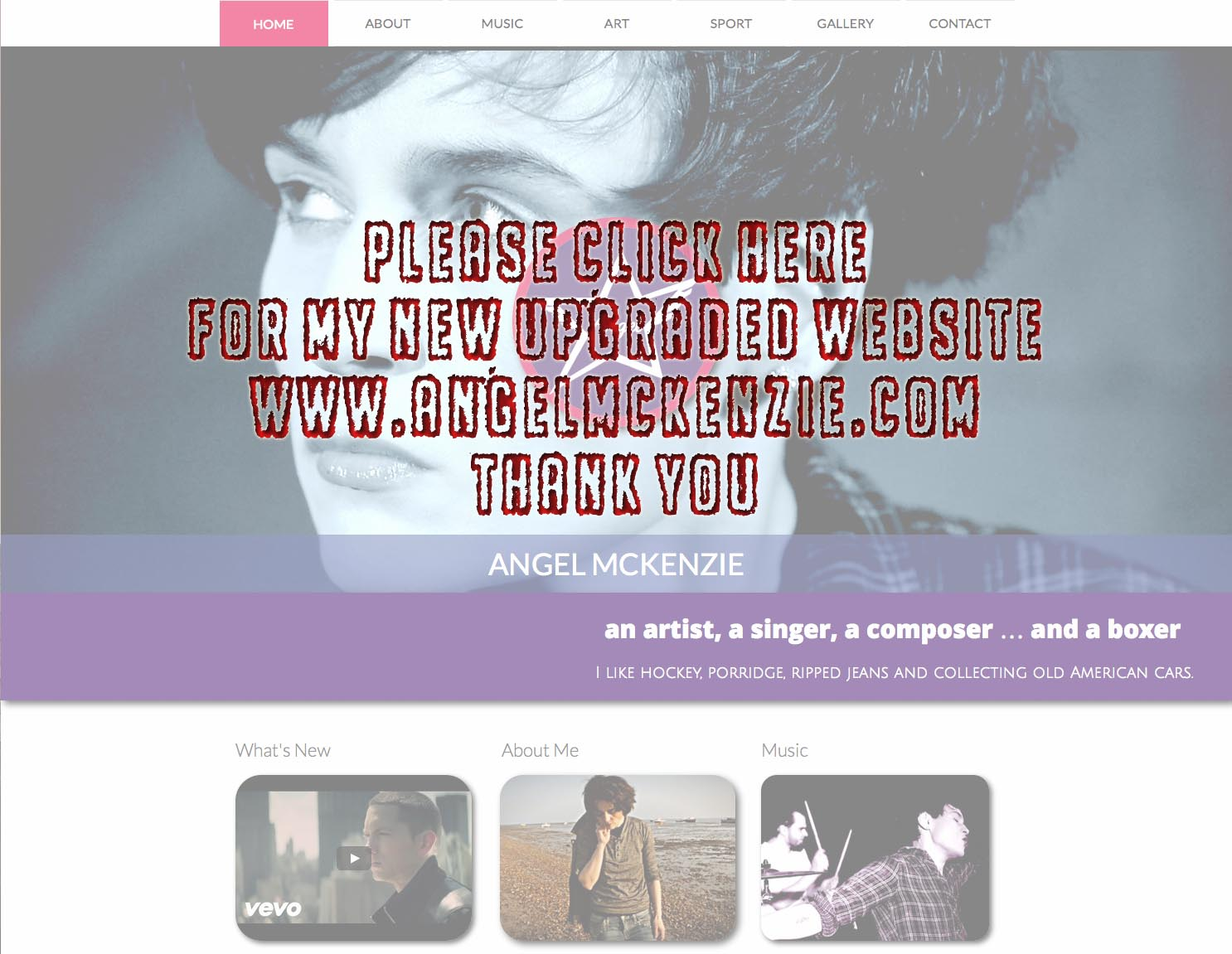please click here for my new upgraded website www.angelmckenzie.comwebsite
